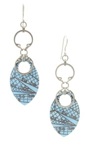 Shakespeare in Seattle Earrings (Blue)