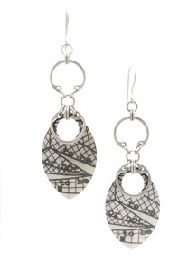 Shakespeare in Seattle Earrings (Titanium)