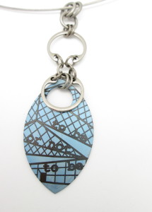 Shakespeare in Seattle Pendant (Blue)