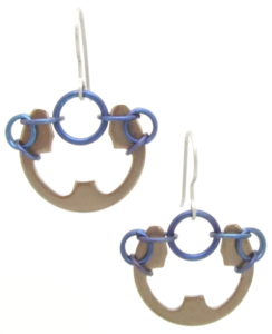 Poppy Earrings by Wraptillion (Heat Patina Collection)