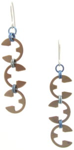 Vine Earrings by Wraptillion (Heat Patina Collection)