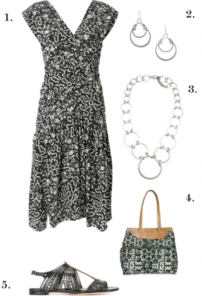 Black Textured Florals | One Necklace, Six Ways: Chic, Edgy Styles to Wear to Work, Dinner, and Beyond