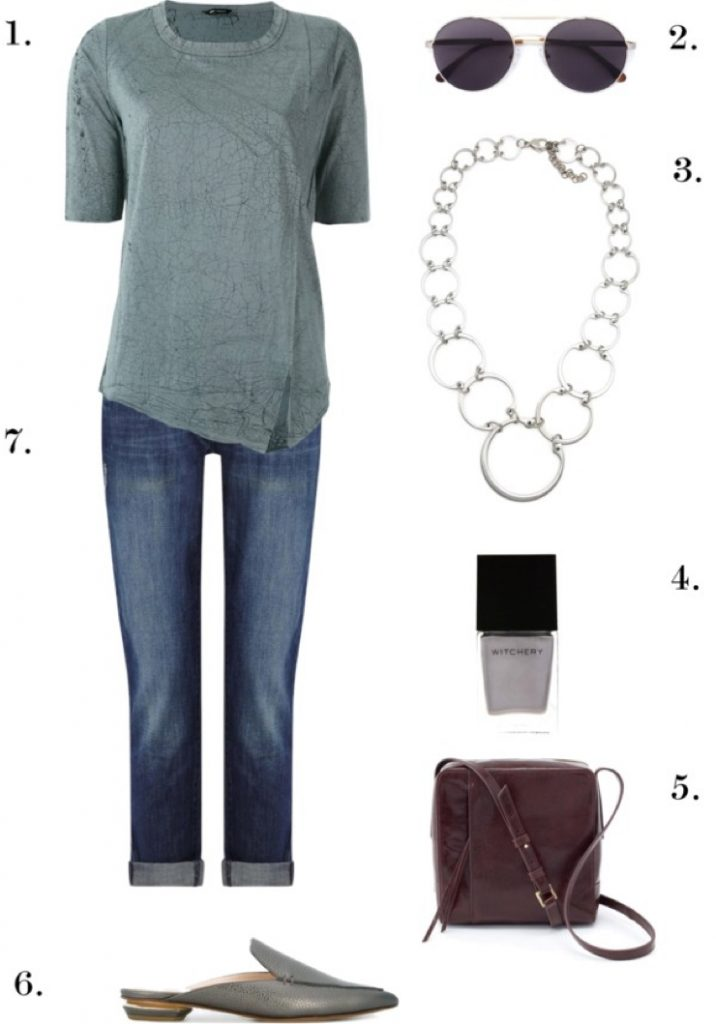 Casual Chic with Cuffed Jeans | One Necklace, Six Ways: Chic, Edgy Styles to Wear to Work, Dinner, and Beyond