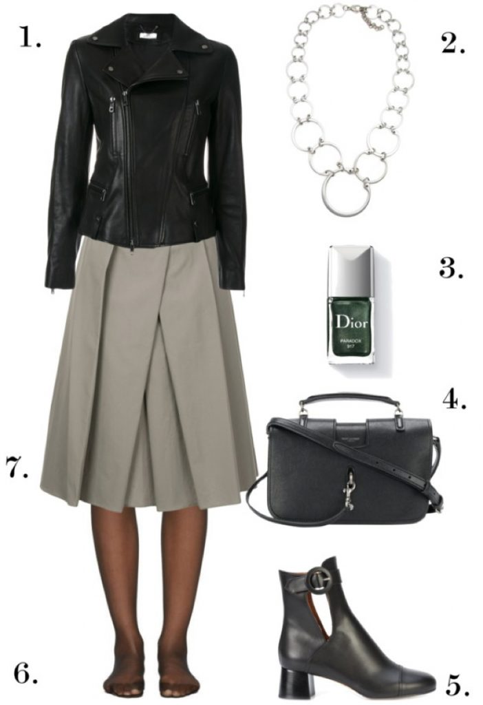 Classic Edgy Professional Style | One Necklace, Six Ways: Chic, Edgy Styles to Wear to Work, Dinner, and Beyond