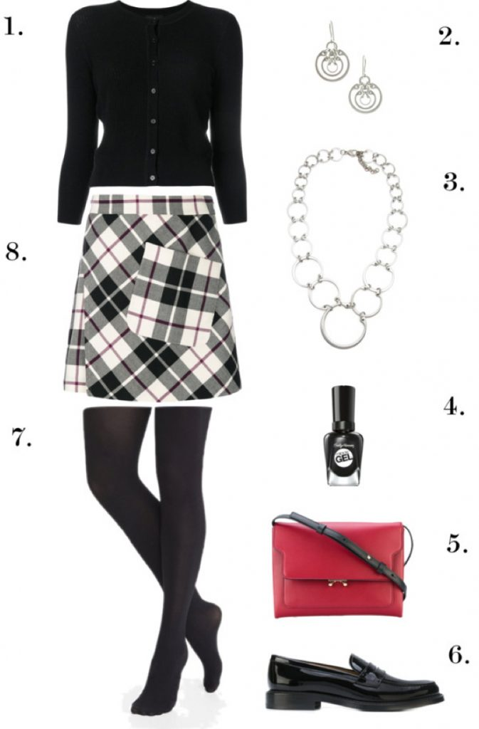 Creative Office Style, Plaid Edition | One Necklace, Six Ways: Chic, Edgy Styles to Wear to Work, Dinner, and Beyond
