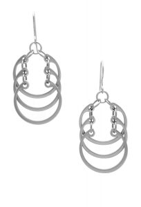 overlapping earrings
