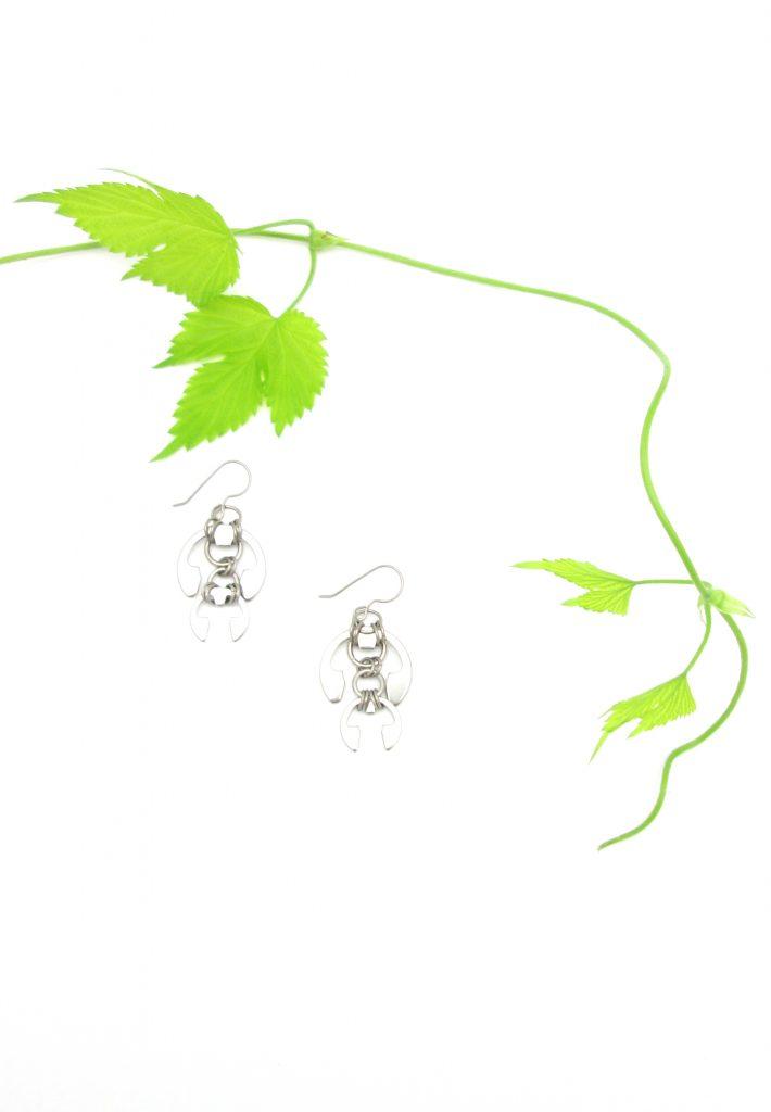 Hops Earrings by Wraptillion with hops bine