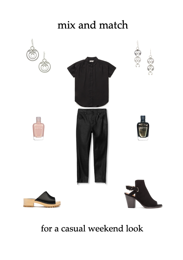 mix & match for a casual weekend look: classic or edgy outfit ideas