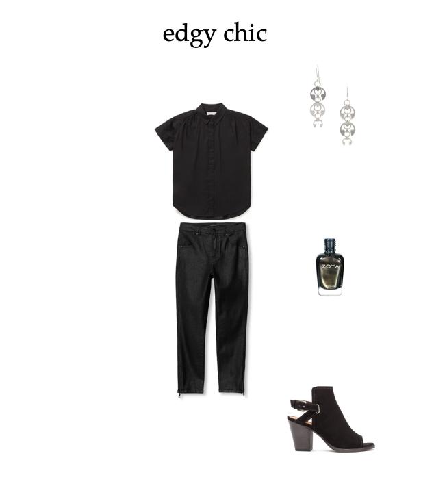 mix and match your style for a casual weekend look: take an all-black outfit from classic to edgy chic, with style ideas from Wraptillion