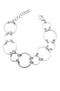 Alternating Bracelet by Wraptillion: a modern geometric linked circle chain bracelet