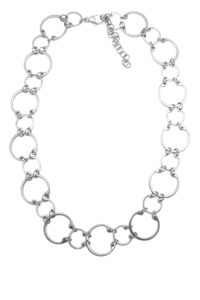 Alternating Necklace by Wraptillion: a modern geometric linked circle chain necklace