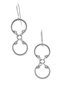 Baseline CXC Earrings by Wraptillion (short linked circle small modern dangle earrings)