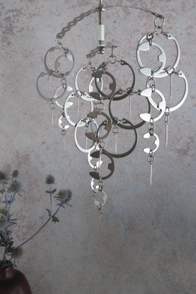 Flotsam sculptural hanging mobile by Wraptillion